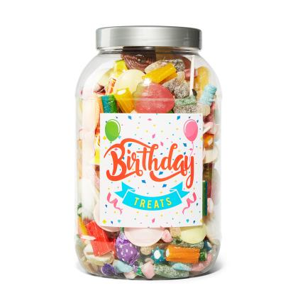 Food Gifts - Birthday Sweet Gifts Jar Extra Large 2.17kg - Image 1