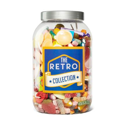 Food Gifts - Retro Sweet Gifts Jar Extra Large 2.17kg - Image 1
