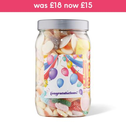 Food Gifts - Congratulations Sweet Gifts Large Jar 980g - Image 1