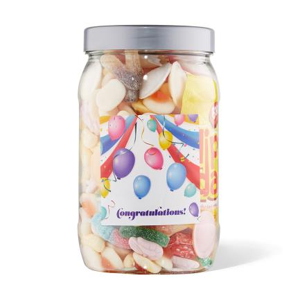 Food Gifts - Congratulations Sweet Gifts Large Jar 980g - Image 2