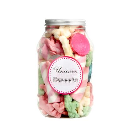 Food Gifts - Sweets in the City Unicorn Sweet Jar - Image 1