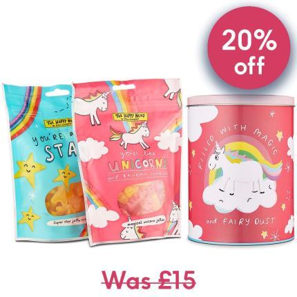 Food Gifts - Happy News Unicorn Sweets Tin - Image 1