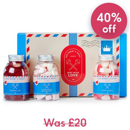 Food Gifts - Sent With Love Sweets Gift Box - Image 1