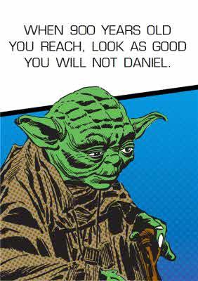 Yoda Card Yoda Birthday Card Moonpig