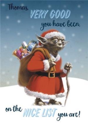 Star Wars Yoda Santas Nice List Personalised Christmas