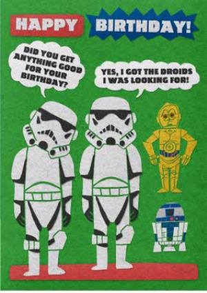 Greeting Cards - Birthday card - Star Wars - Stormtroopers - droids - Image 1