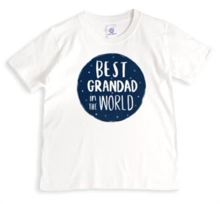 T-Shirts - Best Grandad In The World White T-Shirt - Image 1
