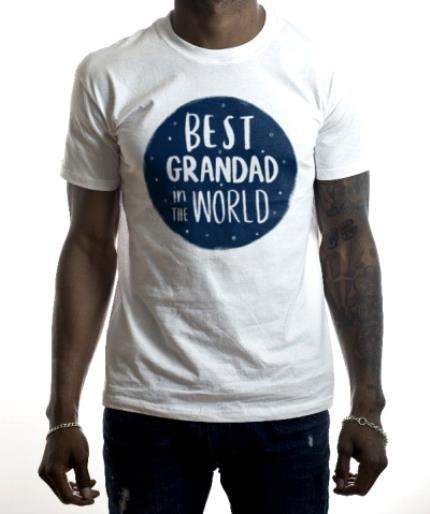 T-Shirts - Best Grandad In The World White T-Shirt - Image 2