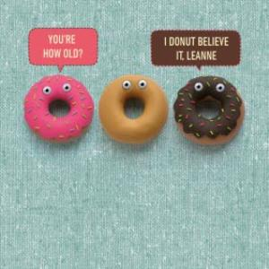 Greeting Cards - I Donut Believe It Funny Pun Birthday Card - Image 1