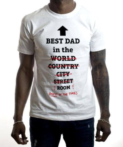 T-Shirts - Best Dad In The World, Well Room T-Shirt - Image 2