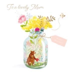 Greeting Cards - Birthday Card - Mum - Lovely Mum - Bear - Garden - Image 1
