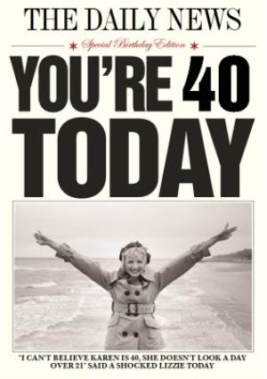 Greeting Cards - 40th Birthday Card - Image 1