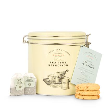 Food Gifts - Cartwright & Butler Tea & Biscuits Barrel - Image 1