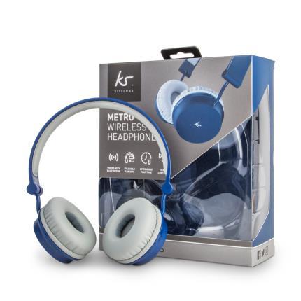 Gadgets & Novelties - Metro Wireless Headphones Blue - Image 1