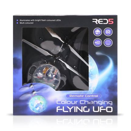 Gadgets & Novelties - Built-In LED Colour Changing UFO Flying Toy - Image 1