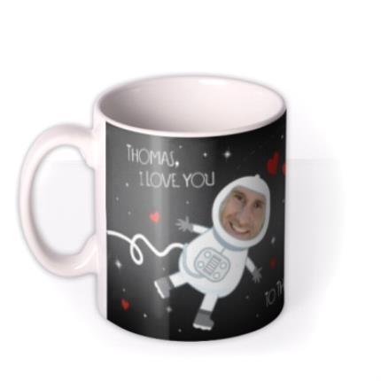 Mugs - Love You To The Moon and Back Photo Upload Mug - Image 1