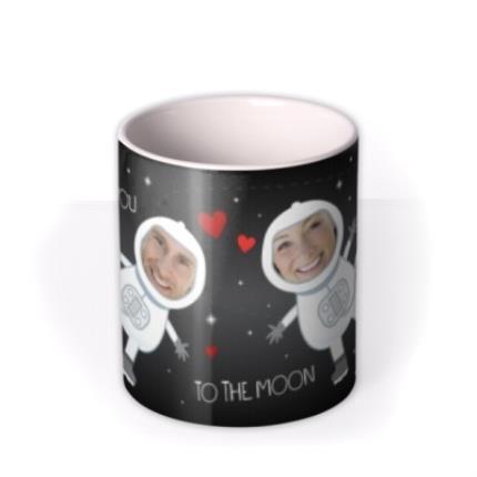 Mugs - Love You To The Moon and Back Photo Upload Mug - Image 3