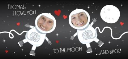 Mugs - Love You To The Moon and Back Photo Upload Mug - Image 4