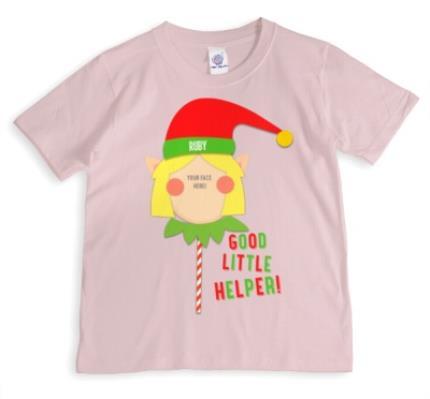 T-Shirts - Merry Christmas Elf Helper 3 Photo Upload T-shirt - Image 1