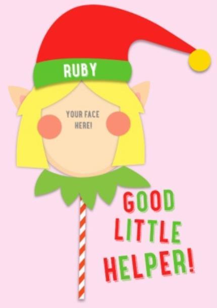 T-Shirts - Merry Christmas Elf Helper 3 Photo Upload T-shirt - Image 4