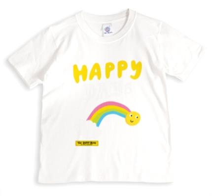 T-Shirts - The Happy News Happy Days Rainbow Grey T-Shirt - Image 1