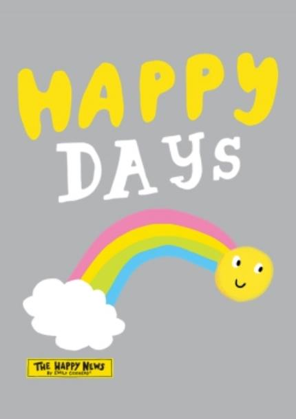T-Shirts - The Happy News Happy Days Rainbow Grey T-Shirt - Image 4