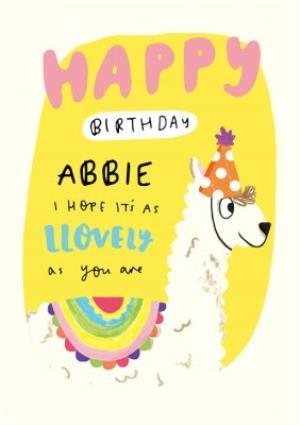 Llovey Birthday Llama Card