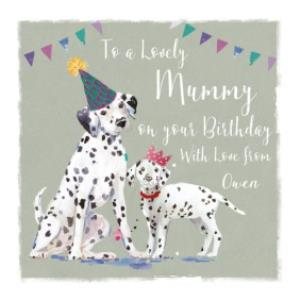 Greeting Cards - Birthday Card - Mummy - Lovely Mummy - Dogs - Dalmations - Image 1