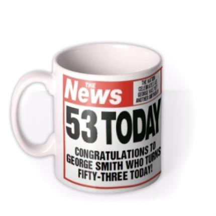 Mugs - The News Birthday Personalised Photo Upload Mug - Image 1