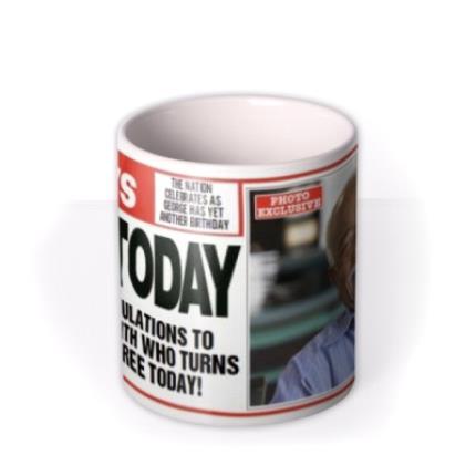Mugs - The News Birthday Personalised Photo Upload Mug - Image 3