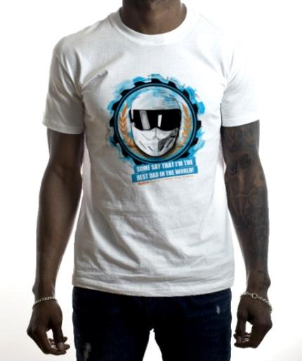 T-Shirts - Father's Day Top Gear The Stig Personalised T-shirt - Image 2