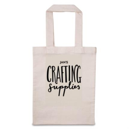 Gifts For Home - 'Personalise Me' Crafting Supplies Tote Bag - Image 1