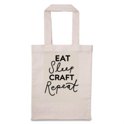 Gifts For Home - Eat Sleep 'Personalise Me' Repeat Tote Bag - Image 1