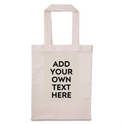Gifts For Home - 'Add Your Text Here' Tote Bag - Image 1