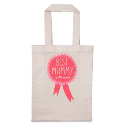 Gifts For Home - Personalised Best Mummy Tote Bag - Image 1