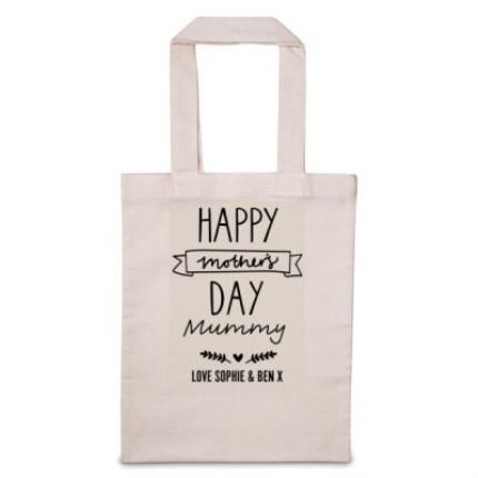 Gifts For Home - Personalised Happy Mother's Day Tote Bag - Image 1