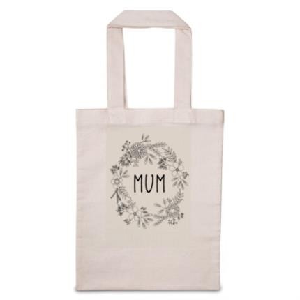 Gifts For Home - Personalised Mum Floral Tote Bag - Image 1