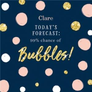 Greeting Cards - Birthday Card - Forecast - Bubbles - Champagne - Prosecco - Cava - Image 1
