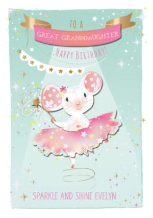 Greeting Cards - Birthday Card - Great Granddaughter - Mouse - Ballet - Ballerina - Image 1