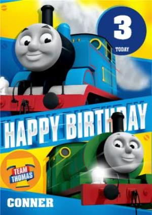 Thomas The Tank Engine 3rd Birthday Card