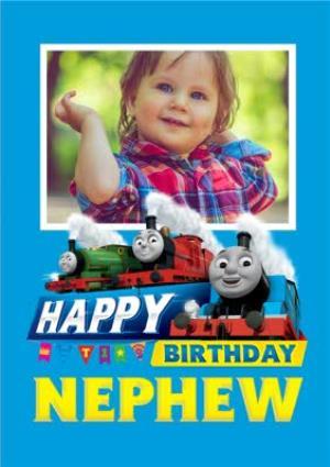 Thomas And Friends Nephew Photo Upload Birthday Card