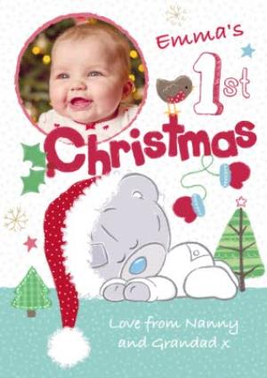 Greeting Cards - Me To You Tatty Teddy Personalised And Photo First Christmas Card - Image 1