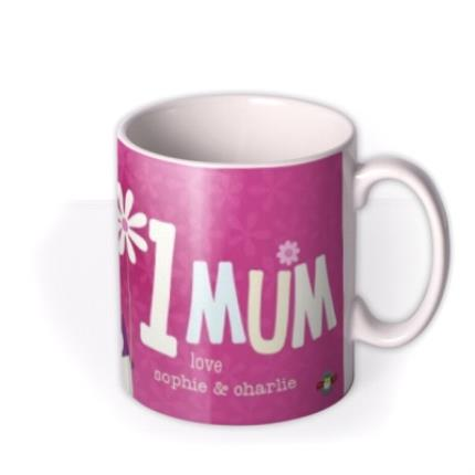 Mugs - Mother's Day World's 1 Mum Personalised Mug - Image 2