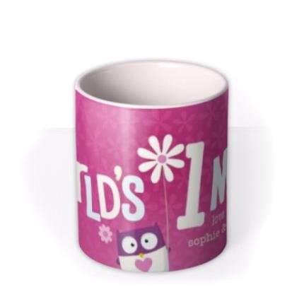 Mugs - Mother's Day World's 1 Mum Personalised Mug - Image 3