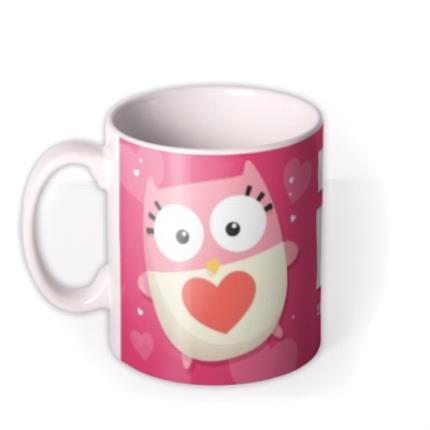 Mugs - Mother's Day Love You Mum Pink Personalised Text Mug - Image 1