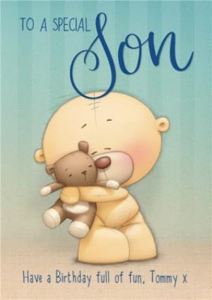 Teddy Bear To A Special Son Birthday Card Moonpig
