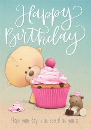 Greeting Cards - Big Cupcake Happy Birthday Personalised Card - Image 1