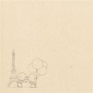 Greeting Cards - Bear With Balloons At Eiffel Tower Personalised Happy Anniversary Card - Image 2