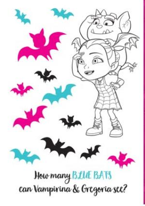 Greeting Cards - Birthday card - Vampirina - Disney - photo upload card - activity card - Image 2