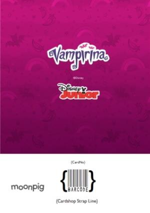 Greeting Cards - Birthday card - Vampirina - Disney - photo upload card - activity card - Image 4